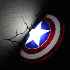 Avengers Wall Lights The Avengers 3d Wall Nightlight U2013 Captain America This Stuff Online