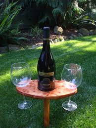 outdoor wine glass holder table portable outdoor wine table and glass holder wine glasses included