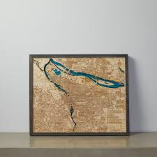 Maps Portland Oregon by Geographical 3d Wood Map Portland Or Tahoe Wood Maps Touch