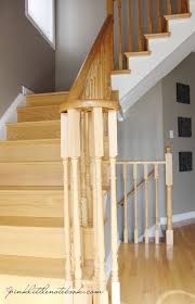 Difference Between Banister And Balustrade Ordinary Oak To Simply White My Staircase Reveal Pink Little