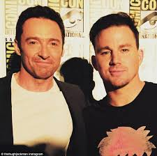 channing tatum insists he never hugh jackman faces off against channing tatum at comic con for x