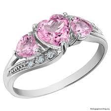 pink wedding rings engagement wedding rings