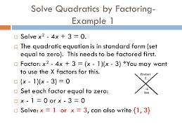 how to solve by factoring algebra 2 module 4 lesson 1 solving quadratic equations