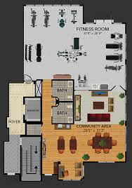 fitness center floor plan new luxury 55 rental apartments plaza at strafford station floor plans