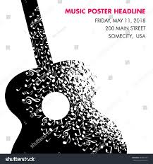 guitar made musical notes page template stock vector 583847047