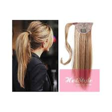 hair extension clip in human hair ponytail wrap hair extension 20
