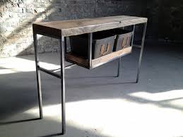 Wood Table With Metal Legs Shellback Iron Works