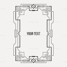 art deco geometric border vertical rectangular frame stock vector
