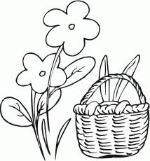 flower basket coloring page printable sketch coloring page