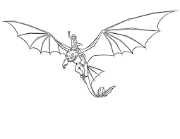 train dragon night fury hiccup coloring sky