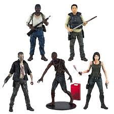 the walking dead tv series 5 figure set mcfarlane toys