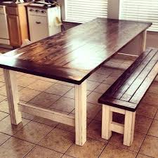 farm table with bench diy dining room table bench this large farmhouse table seats 8 and