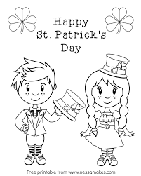st patricks day pictures to color 4492