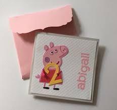 peppa pig birthday card https www etsy com listing 170489953