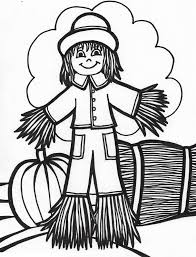Halloween Pictures Coloring Pages Free Printable Scarecrow Coloring Pages For Kids