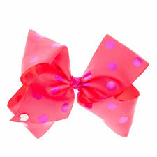 jojo siwa large pink purple polka dot hair bow s