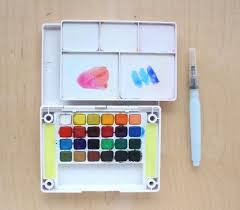 watercolors for beginners basic supplies lines across