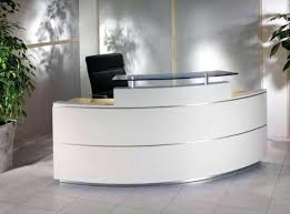 Reception Desk Curved Reception Desk White Bethebridge Co