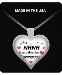 grandkids necklace this nana is nuts about grandkids necklace