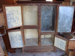 rare antique large wooden decorative ice box for sale antiques