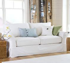 Pottery Barn Slipcovered Sofa by Gorgeous Slip Covered Sofa With Sure Fit Category U2013 Coredesign