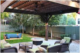 swing pergola backyards excellent swing patio shade pergola fire 52 backyard
