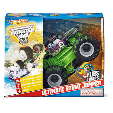large grave digger monster truck toy wheels monster jam grave digger ultimate stunt jumper big w