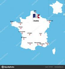 Flag Of Franc A Detailed Map Of France U2014 Stock Vector Angelmax 168778272