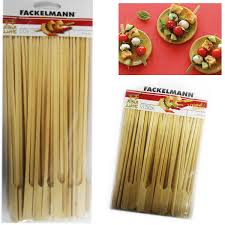 50 bamboo skewers paddle sticks wooden grill kebab barbeque party