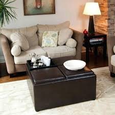 Leather Storage Ottoman With Tray Divine Walmart Leather Storage Ottoman Design Medium Size Of With