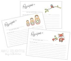 blank recipe card template personal commercial