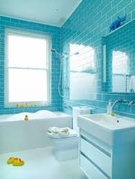 turquoise bathroom kinda nice like the blue glass subway tile in a glassed shower