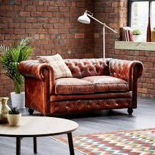 Chenille Chesterfield Sofa by Small Leather Chesterfield Sofas Sofa Nrtradiant