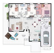 plan de maison gratuit 4 chambres plan de maison plain pied 4 chambres gratuit trendy plan maison