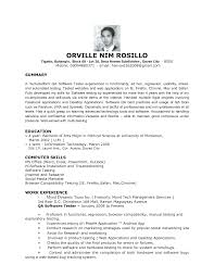 Resume Example Entry Level by Qa Resume 10 Software Test Engineer Sample Resume Cruise Attendant
