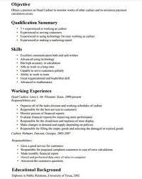 Resume For A Marketing Job by Cashier Resume Job Description Examples