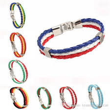 fashion bracelet silicone images Fifa world cup 2018 football bracelets ag br es woven braided jpg