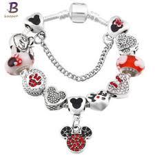 ebay jewelry silver charm bracelet images Mickey mouse bracelet ebay JPG