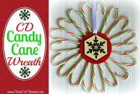 candy cane cd wreath mom on timeout