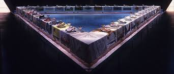 judy chicago dinner table the dinner party by judy chicago