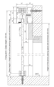 sliding door hardware skirting adaptor