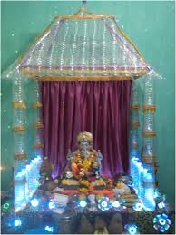 Home Ganpati Decoration Eco Friendly Ganpati Decoration Home Home Decor