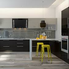 a stylish kitchen design with glossy finish built in appliances a stylish kitchen design with glossy finish built in appliances and spatula holders