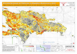 Haiti Map Densidad Estimada De Población En República Dominicana Y Haiti