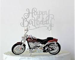 harley davidson cake toppers harley davidson motorcycle cake topper happy birthday cake