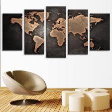 World Map 1950 Copper World Map Multi Panel Canvas Wall Art Elephantstock
