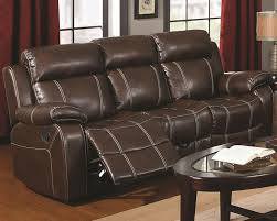 Chicago Furniture Brown Bonded Leather Reclining Sofa Store - Leather sofas chicago