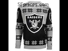 raiders light up christmas sweater oakland raiders ugly sweater youtube