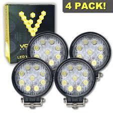 4 inch round led lights tractor led light 6000k led spot light floodlight led work light