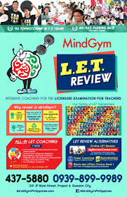 licensure examination for teachers let review mindgym philippines